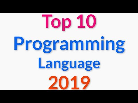 Top 10 Programming Languages for 2019