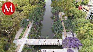 El parque lineal Gran Canal en CdMx inaugura su primera sección