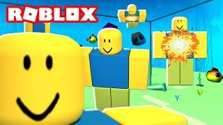 SURVIVE THE EXPLODING NOOB DISASTER IN ROBLOX! | MicroGuardian