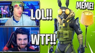 Streamers React To *NEW* Moth Skin 'MOTHMANDO' - Fortnite