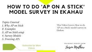 Wie Sie tun 'AP on a Stick' Modell-Umfrage im Ekahau