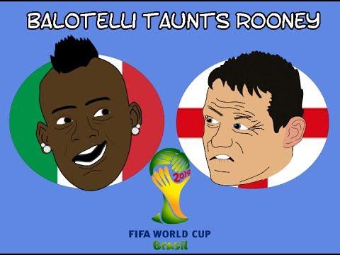 MARIO BALOTELLI TAUNTS WAYNE ROONEY!! (WORLD CUP 2O14 BRAZIL)