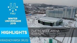 "Enjoying the views of the ""Platinum Arena Ice Arena""😍 I 29th Winter Universiade 2019 in Krasnoyarsk."