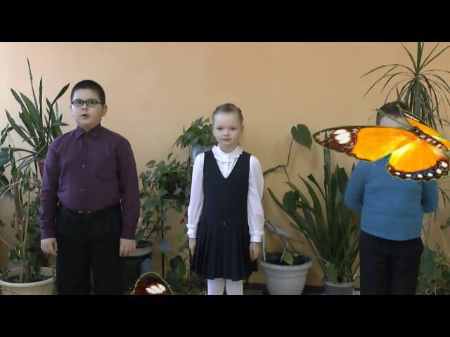 Изображение предпросмотра прочтения – «Звездочки» читают произведение «Стрекоза и Муравей» И.А.Крылова