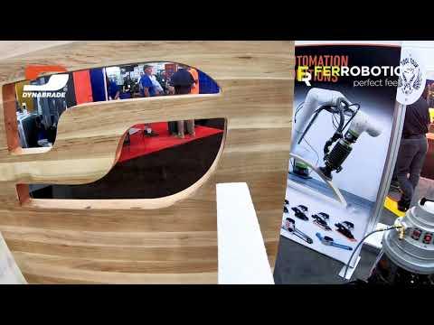 Robotic beltfile tool ACF-K - wooden surface treatment - Dynabrade + FerRobotics