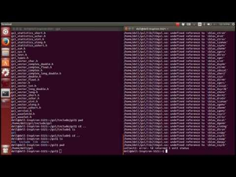 Install and use GNU GSL library in Ubuntu 14 04 (Linux, C++)