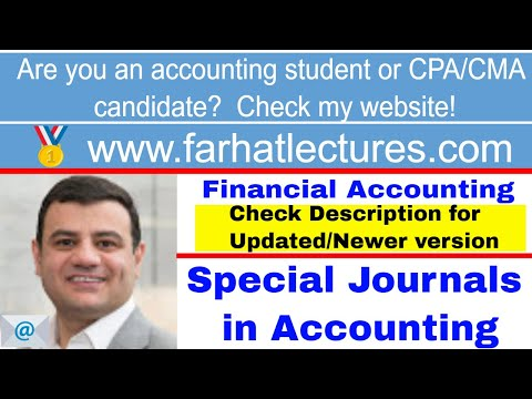 Special journals, sales journal, purchases journal, cash disbursements, cash receipts, CH 7 CPA exam
