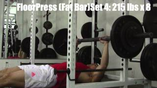 SHOULDER + CHEST EXERCISE WORKOUT: March 1st 2013 Training