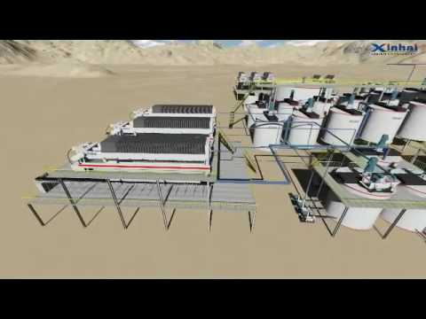 3D Video of Gold Bismuth Iron Mineral Processing Plant, Xinhai