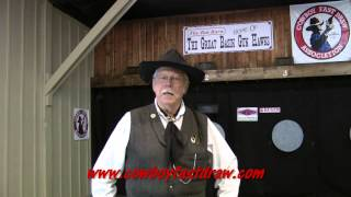 Cowboy Fast Draw - Getting Started / #2. Six-Guns & Holsters(Quick Cal, Director of the Cowboy Fast Draw Association, hosts Part 2 on How to Get Started in Cowboy Fast Draw. In this Part Cal covers Guns & Holsters used ..., 2013-07-16T00:44:42.000Z)