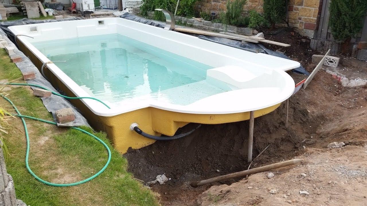 Keine Angst Vorm Alten Pool Teil 2 Bodenplatte U Pool Setzen
