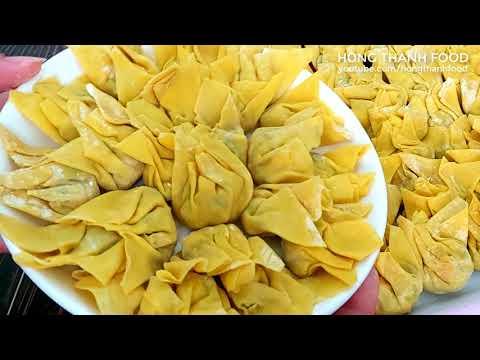 Món ăn Chay dễ làm l Cách làm HOÀNH THÁNH CHAY chiên giòn thật ngon bao ăn luôn l Hồng Thanh Food