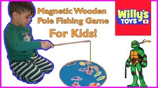 3 Year Old Kid Reviews TEPSMIGO Magnetic Wooden Fishing Pole Game for Kids - Willy