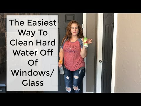 Cleaning 101: The easiest way to clean hard water off of windows/glass.