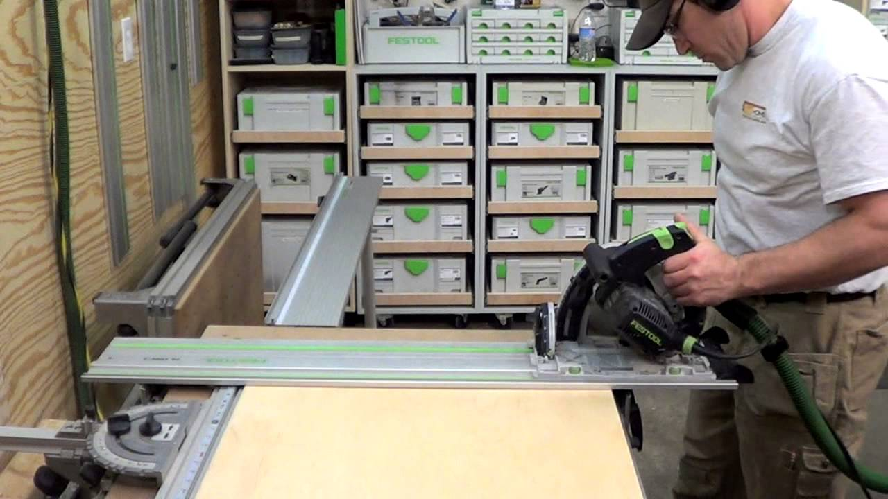 Building kitchen cabinets part 1 Cutting plywood to size for base cabinets  YouTube