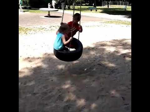 Детские качели Bambi M2128 - fiksiki.com.ua - YouTube