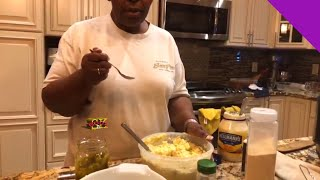 How to make Easy Delicious Homemade Potato Salad with Eggs