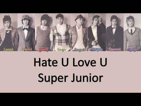 Super Junior Hate U Love U Lyrics