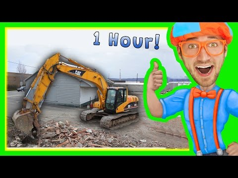 Excavators for Children with Blippi | 1 Hour Long Children's