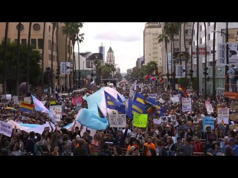 Thousands march for LGBT rights across the US