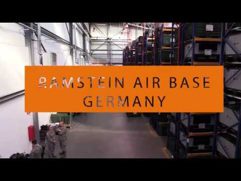 Airmen from the 139th Logistics Readiness Squadron train at Ramstein Air Base