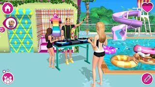 Barbie Dreamhouse Adventures   Barbie House Pool Party   Chelsea, Ken Dj Concert   Games For Girls