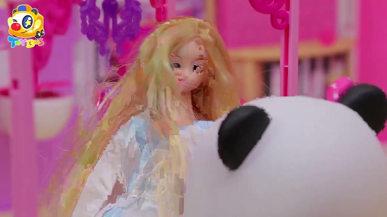 お城でお姫様になっちゃった❤ごっこ遊び❤トイバス(ToyBus) キッズ おもちゃアニメ