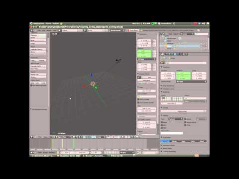 Sculpting in Blender 2.59(Part  5) IPO Editor/Background/Stars