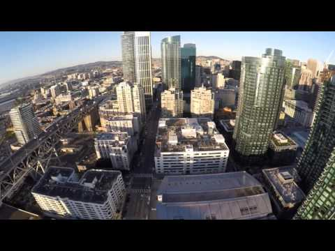 Hills Bros Coffee Factory in San Francisco:  Aerial View from Quadcopter