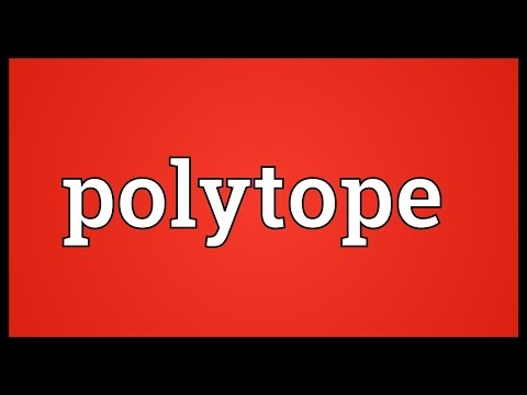 Polytope Meaning