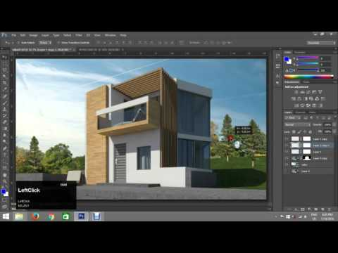 Montaža u Photoshop-u - architectural post production Photoshop, basics