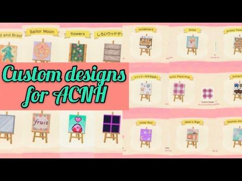 Custom Designs For Animal Crossing New Horizons Youtube