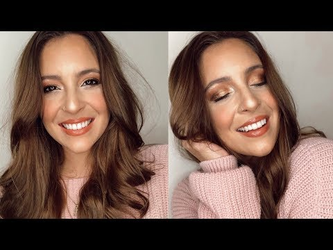 MINIMAL FALL GLAM MAKEUP | Christina Campbell thumbnail