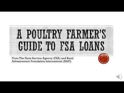 A Poultry Farmer's Guide to FSA Loans