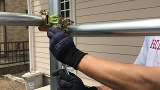 【ガレージDIY】単管パイプガレージ制作 #2 材料調達、インスタントモルタル 単管組み付け【RED BLASTER】