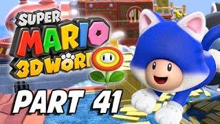 Super Mario 3D World Walkthrough Part 41 - Shiftier Boo Mansion (100% Green Stars & Stamps)