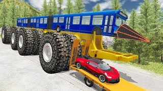 Beamng drive - Giants Machines Crushes Cars #9 (Giants Wheels crush cars)