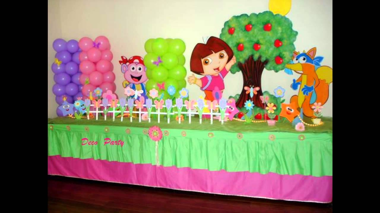At home birthday party decoration ideas for kids youtube for Party decorations to make at home