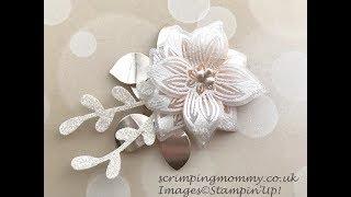 Easy Vellum Sparkle Flower .