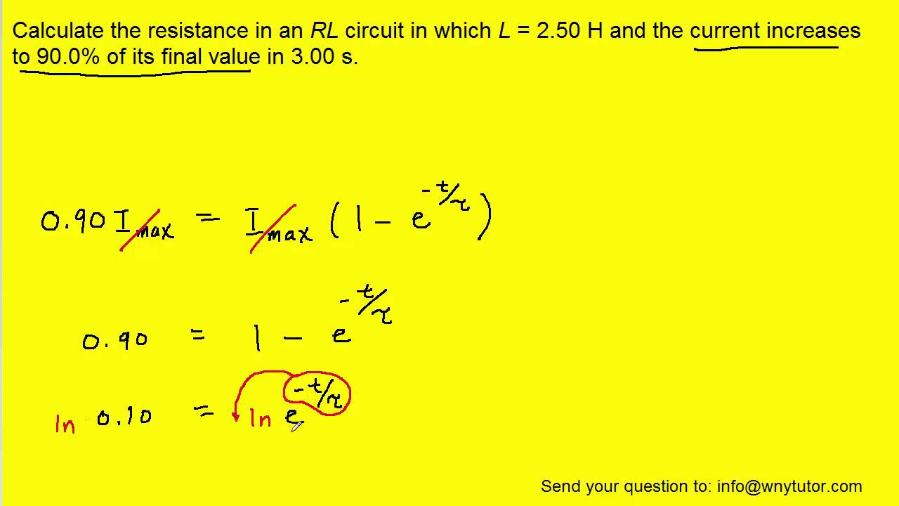 Calculate The Resistance In An Rl Circuit Youtube Series Vs Parallel Circuits