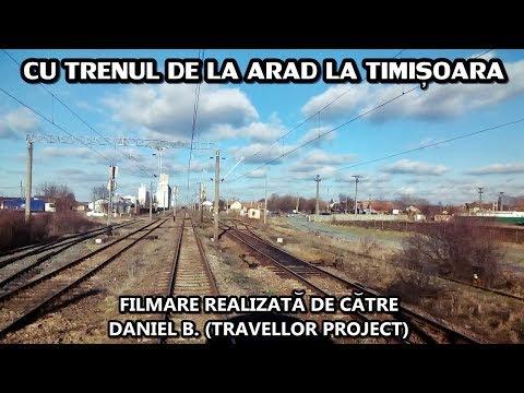 Cu trenul de la Arad la Timișoara | Rear view (From Arad to Timișoara by train)