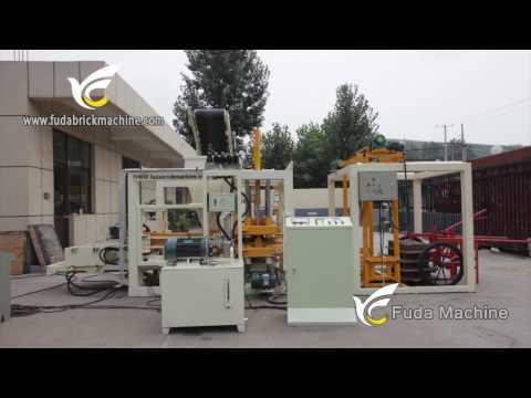 QT4-18 automatic concrete block making machine for sale, cement brick machine in Philippines