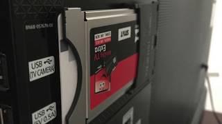 CA-Modul csatlakoztatása Conax kártyafogadó adapterrel okos TV-re