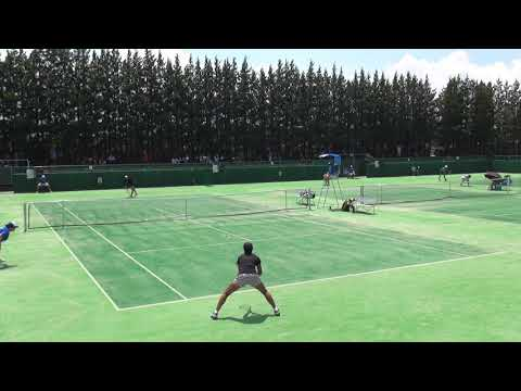 6日 テニス女子シングルス 会津総合運動公園8コート 九州文化学園×浦和麗明 1回戦1