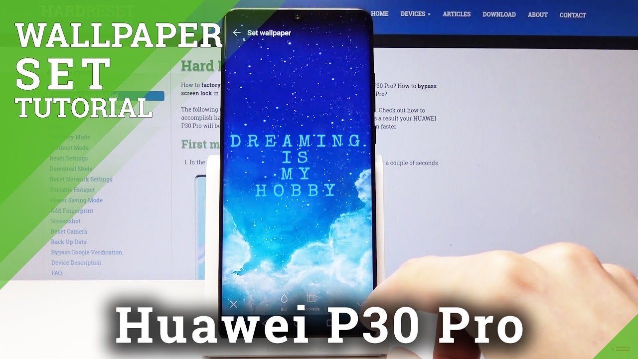 How To Set Up Wallpaper On Huawei P30 Pro Home Lock Screen Youtube