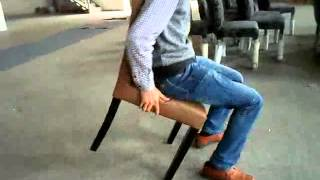 Check Chair Stability And Furniture Tough Quality Inspection With Person On