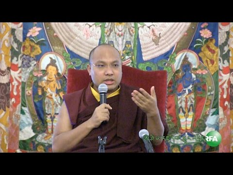 17th Gyalwang Karmapa addresses an audience of Tibetans in Washington DC area, April 16, 2015