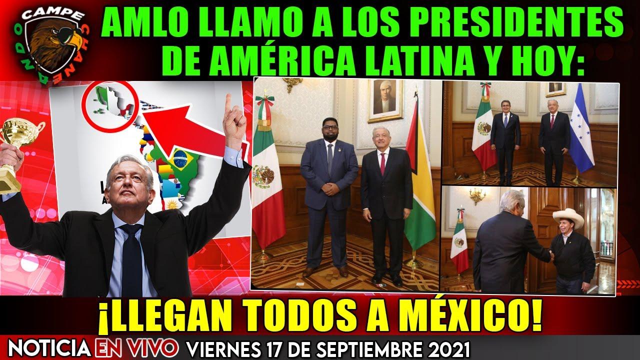 ¡LLEGARON LOS MACHUCHONES! AMLO HIZO UN LLAMADO A LOS PRESIDENTES DE AMERICA LATINA ¡ESTÁN AQUÍ!