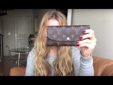 louis vuitton emilie wallet rose nacre reveal youtube