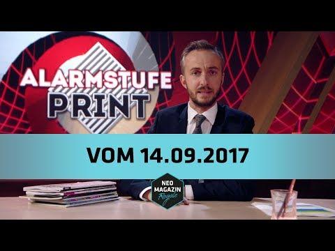 Alarmstufe Print vom 14.09.2017 | NEO MAGAZIN ROYALE mit Jan Böhmermann - ZDFneo
